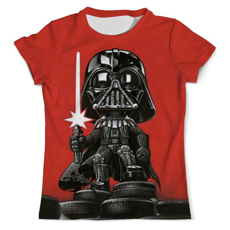 футболка с полной запечаткой для девочек printio star wars звездные войны Printio Футболка с полной запечаткой (мужская) Darthauto (star wars)