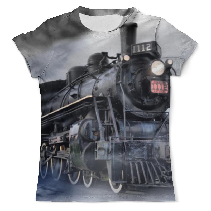Printio Футболка с полной запечаткой (мужская) Мощь и красота поездов