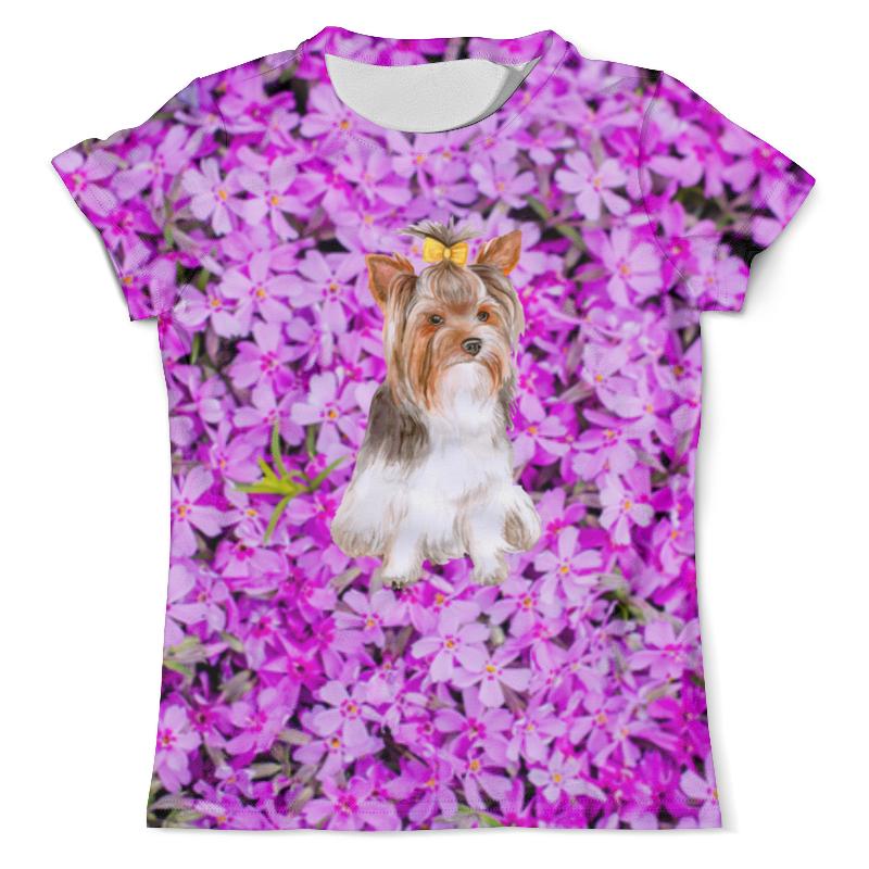 Фото - Printio Футболка с полной запечаткой (мужская) Цветы и пес printio футболка с полной запечаткой мужская пес с трубкой