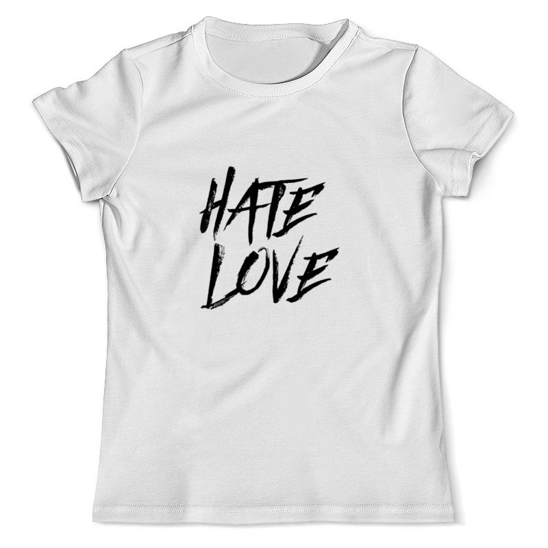 Printio Футболка с полной запечаткой (мужская) Рэпер face hate love