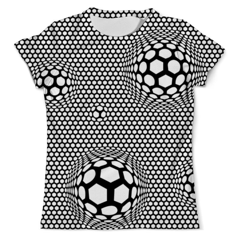 Printio Футболка с полной запечаткой (мужская) Футбольные мячи