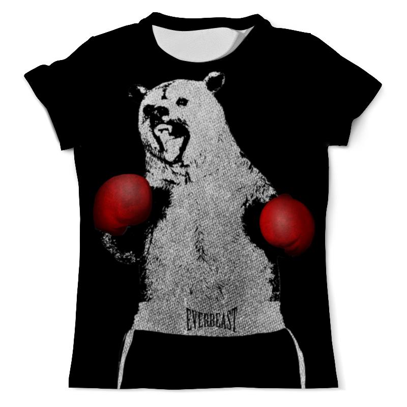 Printio Футболка с полной запечаткой (мужская) Медведь боксёр