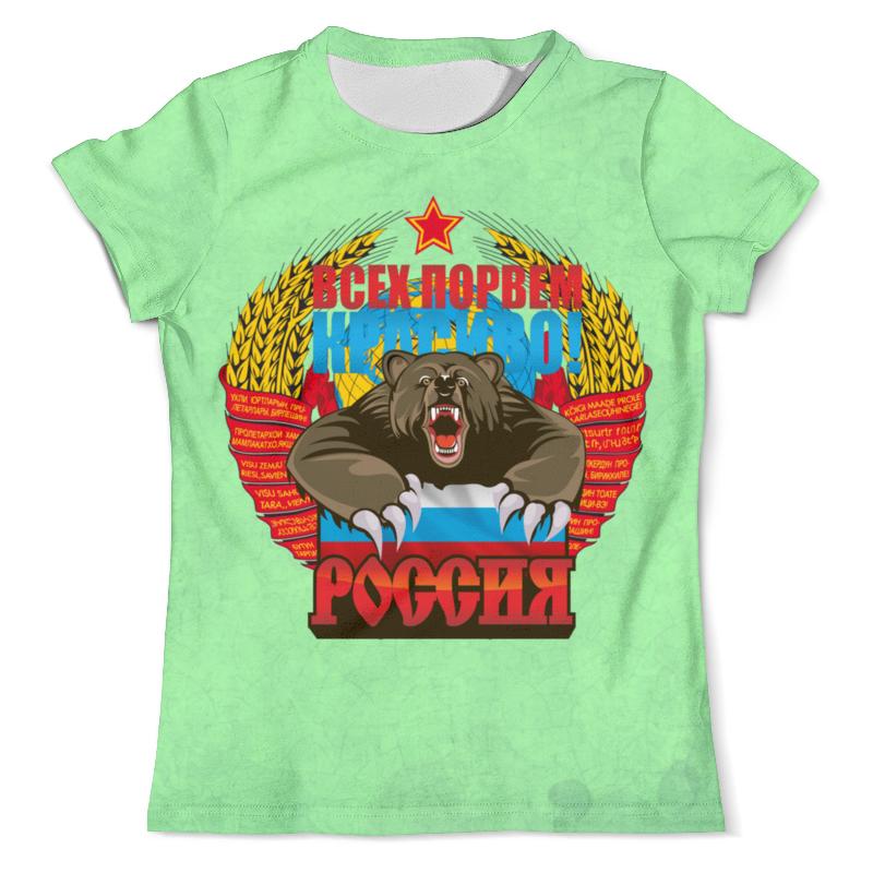 Printio Футболка с полной запечаткой (мужская) Русский медведь