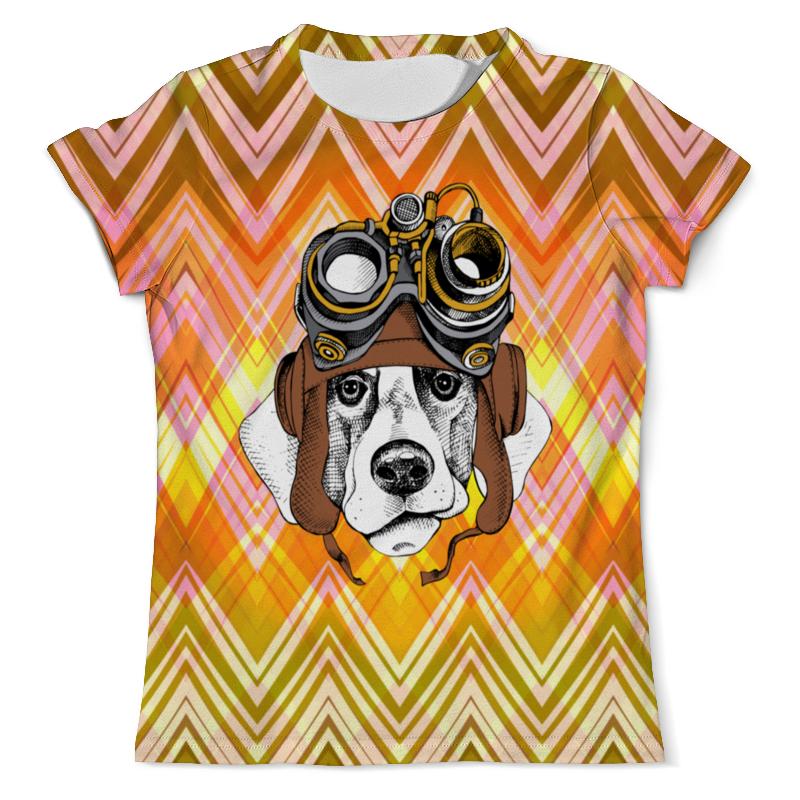 Фото - Printio Футболка с полной запечаткой (мужская) Пес летчик printio футболка с полной запечаткой мужская пес с трубкой