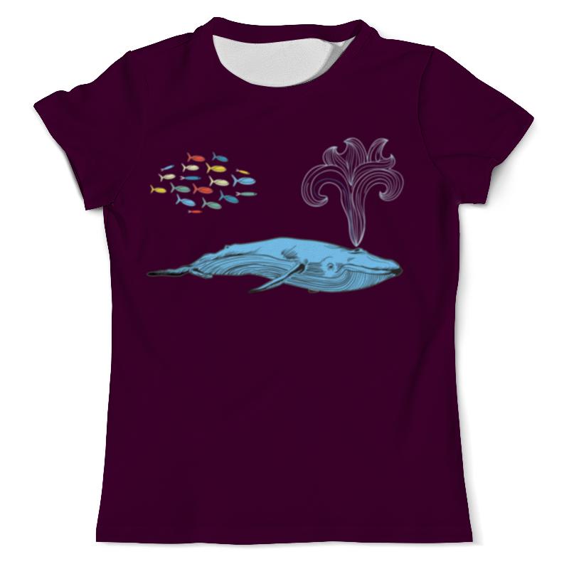 футболка с полной запечаткой мужская printio забавные киты Printio Футболка с полной запечаткой (мужская) Киты и волны