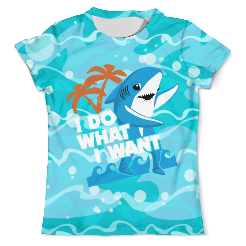 Printio Футболка с полной запечаткой (мужская) Я делаю то,что хочу ( акула ) printio футболки парные я делаю то что хочу акула
