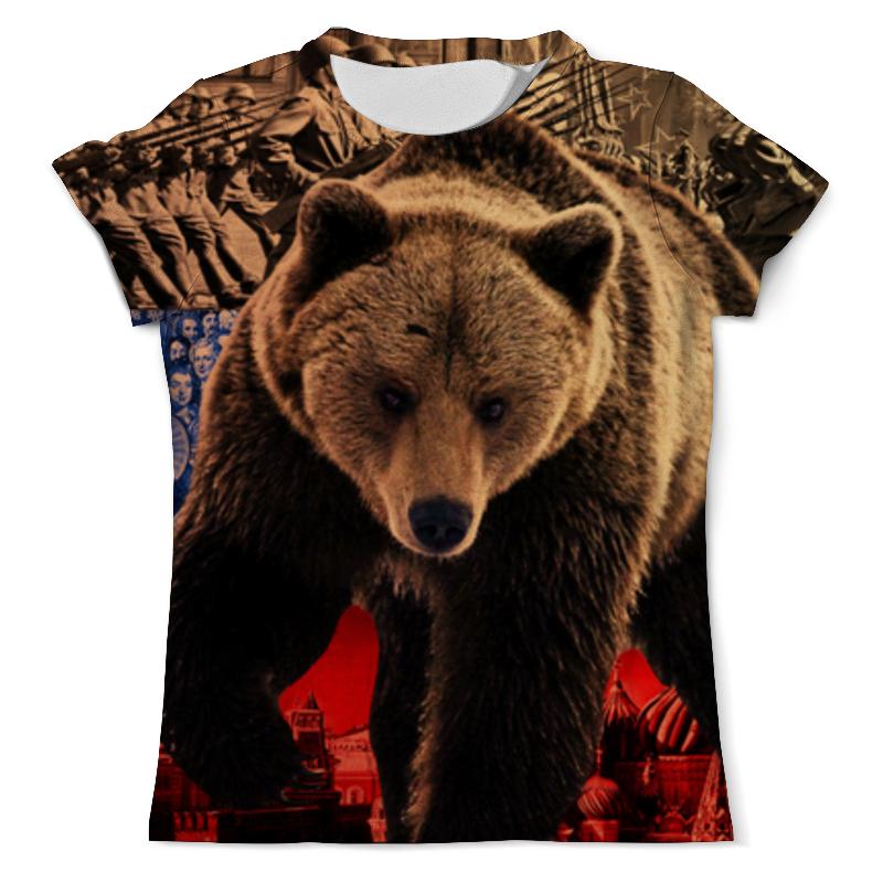 Printio Футболка с полной запечаткой (мужская) Медведь россия