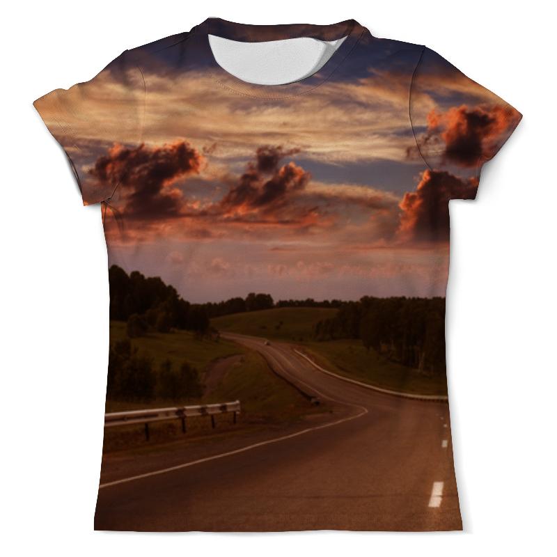 printio футболка с полной запечаткой мужская дорога Printio Футболка с полной запечаткой (мужская) Дорога на закате