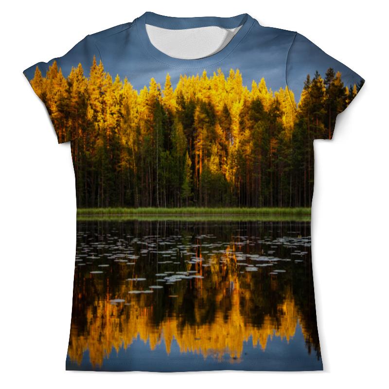 Фото - Printio Футболка с полной запечаткой (мужская) Осенний пейзаж printio футболка с полной запечаткой мужская живописный пейзаж