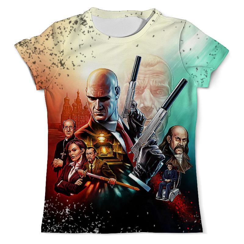 футболка с полной запечаткой для девочек printio hitman Printio Футболка с полной запечаткой (мужская) Hitman design