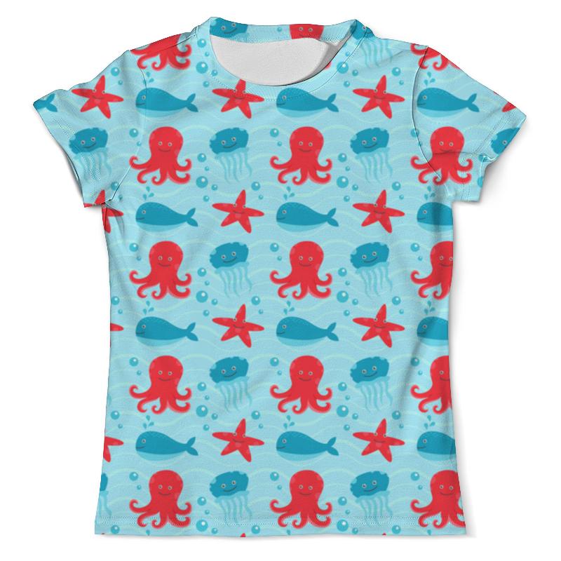 футболка с полной запечаткой мужская printio забавные киты Printio Футболка с полной запечаткой (мужская) Морские глубины