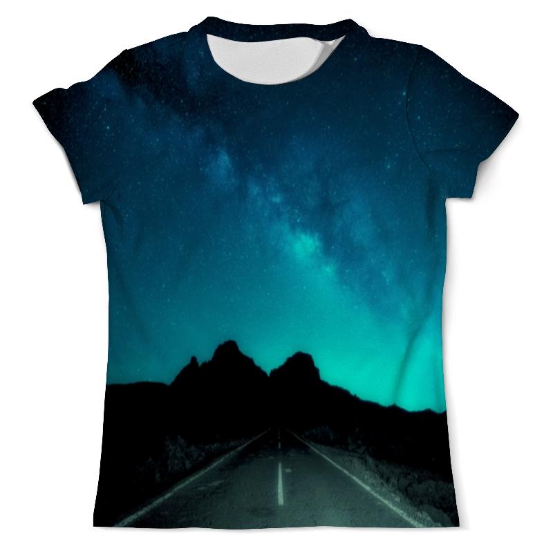 printio футболка с полной запечаткой мужская дорога Printio Футболка с полной запечаткой (мужская) Ночная дорога