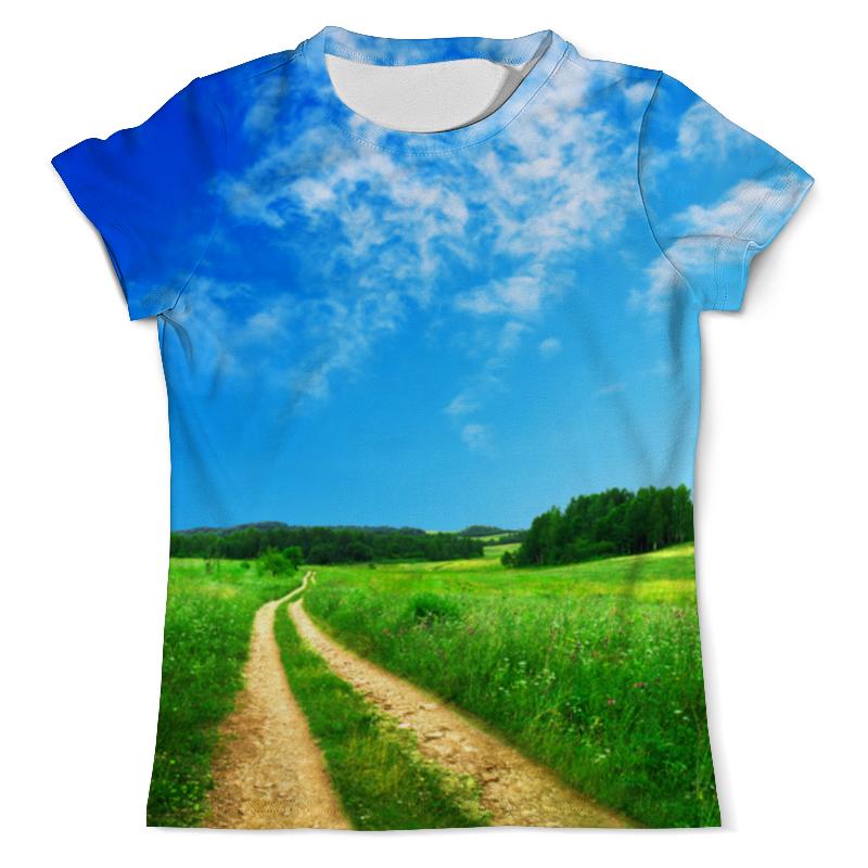 printio футболка с полной запечаткой мужская дорога Printio Футболка с полной запечаткой (мужская) Сельская дорога летом