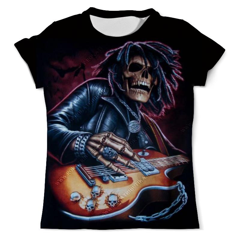 Printio Футболка с полной запечаткой (мужская) Скелет с гитарой