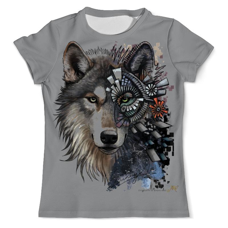 Printio Футболка с полной запечаткой (мужская) Волки фэнтези. седой волк printio рюкзак 3d волки фэнтези седой волк
