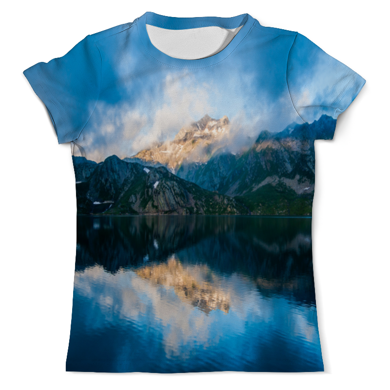 Фото - Printio Футболка с полной запечаткой (мужская) Пейзаж гор printio футболка с полной запечаткой мужская живописный пейзаж
