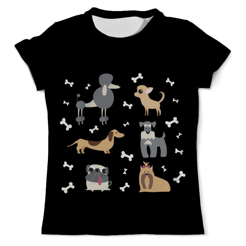 футболка с полной запечаткой мужская printio забавные киты Printio Футболка с полной запечаткой (мужская) Забавные собачки