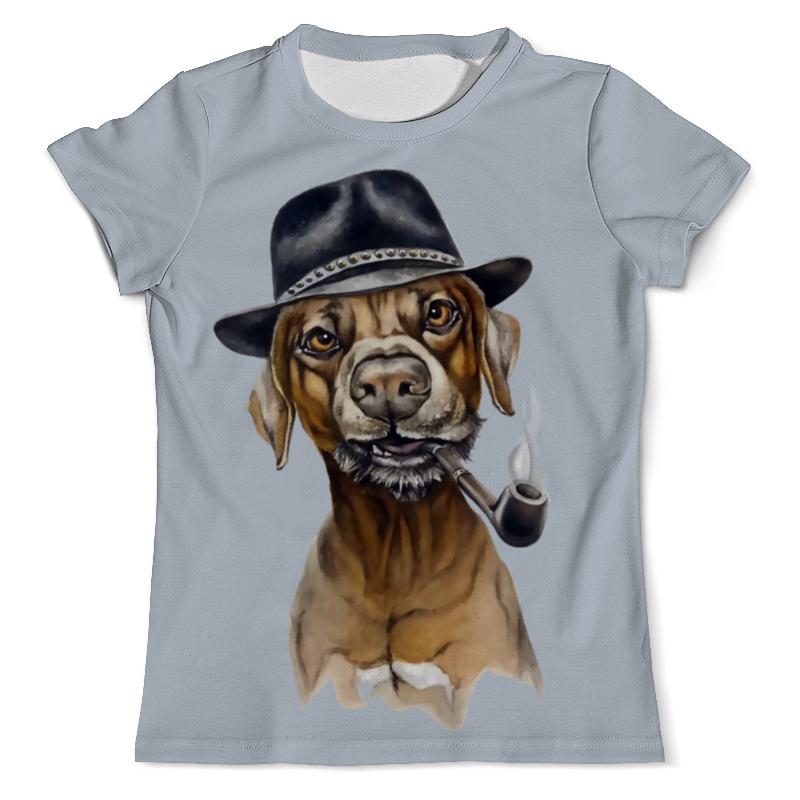 Фото - Printio Футболка с полной запечаткой (мужская) Пес с трубкой printio футболка с полной запечаткой мужская пес с трубкой