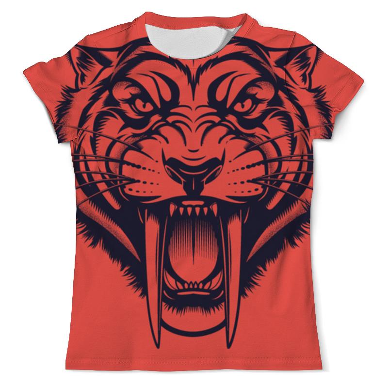 Printio Футболка с полной запечаткой (мужская) Саблезубый тигр
