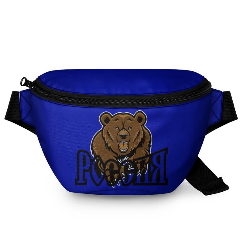 Printio Поясная сумка 3D Медведь. символика