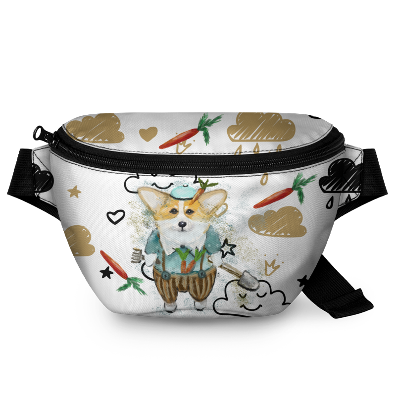 Printio Поясная сумка 3D Корги садовник