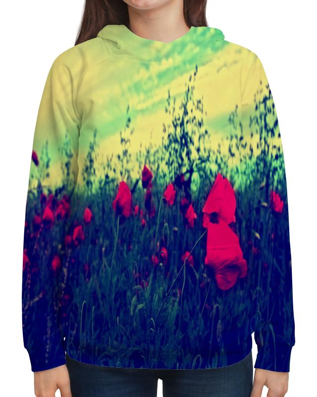 Фото - Printio Толстовка с полной запечаткой Поле маков толстовка с полной запечаткой printio поле цветов
