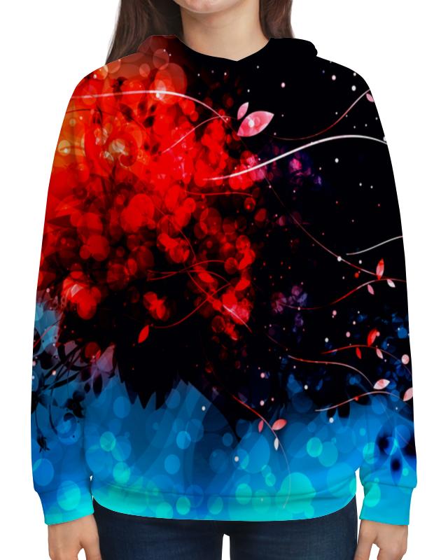 Фото - Printio Толстовка с полной запечаткой Сине-красные краски printio рюкзак мешок с полной запечаткой сине красные краски