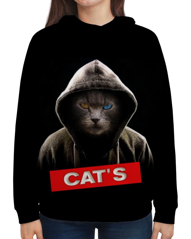 Printio Толстовка с полной запечаткой Кот в капюшоне