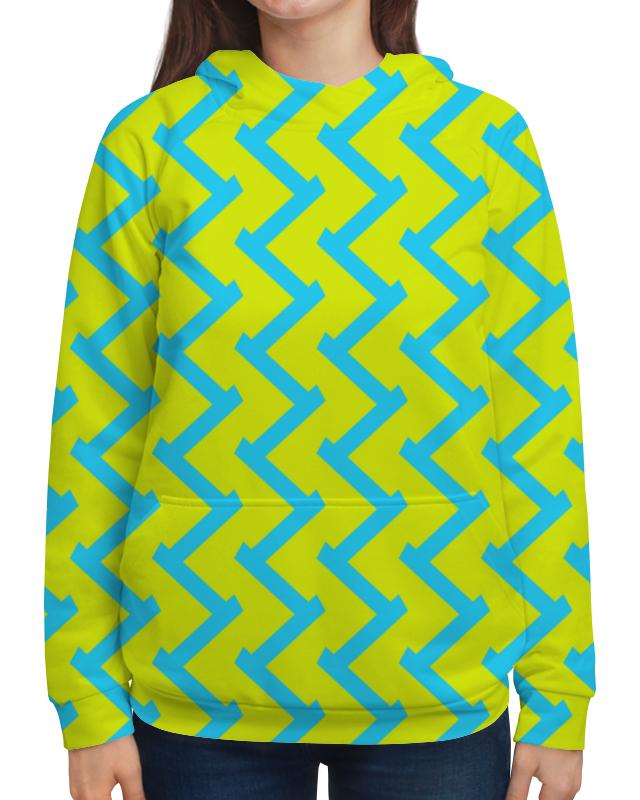 Printio Толстовка с полной запечаткой Желто-голубой узор printio толстовка с полной запечаткой бело голубой узор