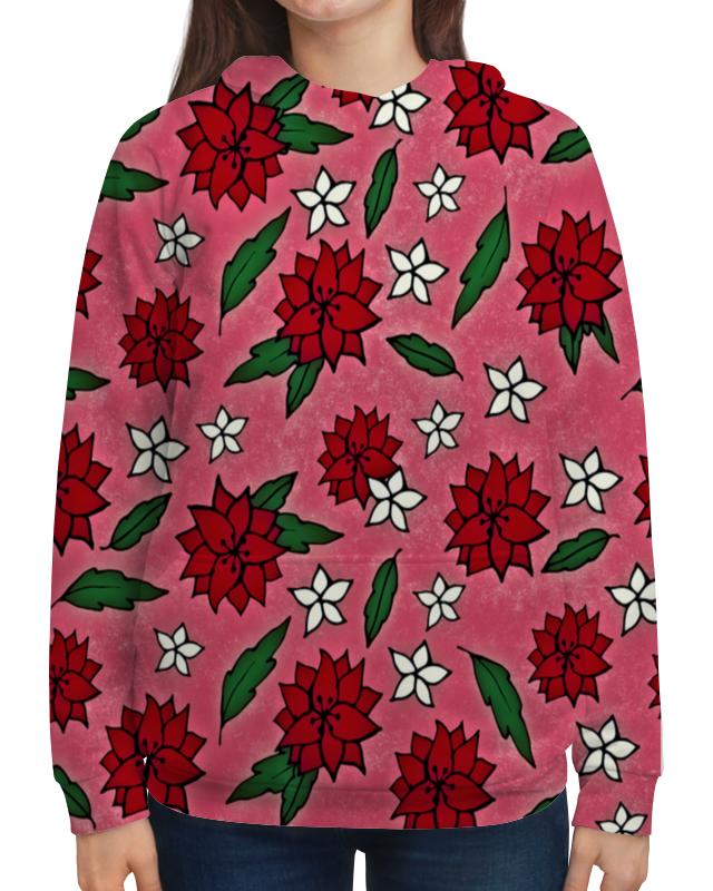 Фото - Printio Толстовка с полной запечаткой Узор цветов толстовка с полной запечаткой printio поле цветов