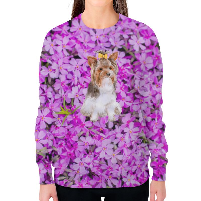 Фото - Printio Свитшот женский с полной запечаткой Цветы и пес printio свитшот женский с полной запечаткой цветы и герб