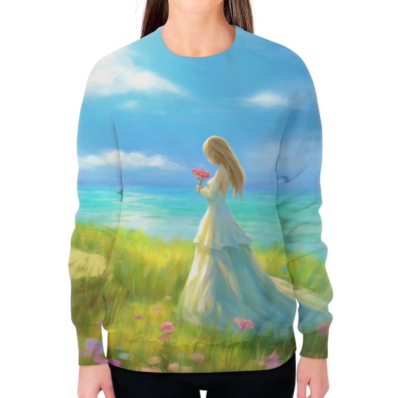 printio свитшот женский с полной запечаткой anti natural natural club Printio Свитшот женский с полной запечаткой Девушка с цветами