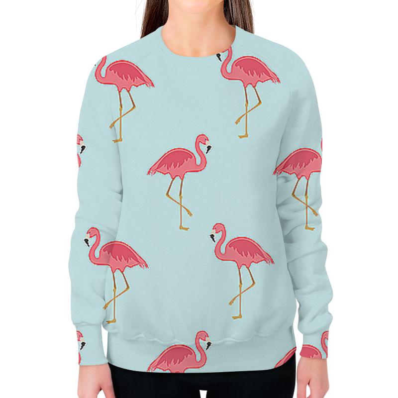 Printio Свитшот женский с полной запечаткой Розовый фламинго