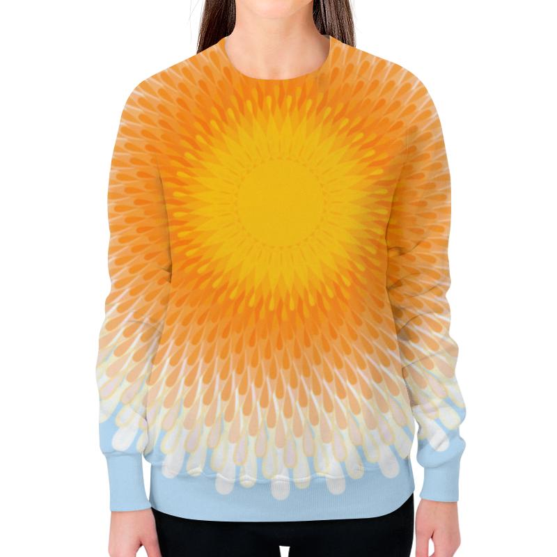 Printio Свитшот женский с полной запечаткой Орнамент яркое солнце