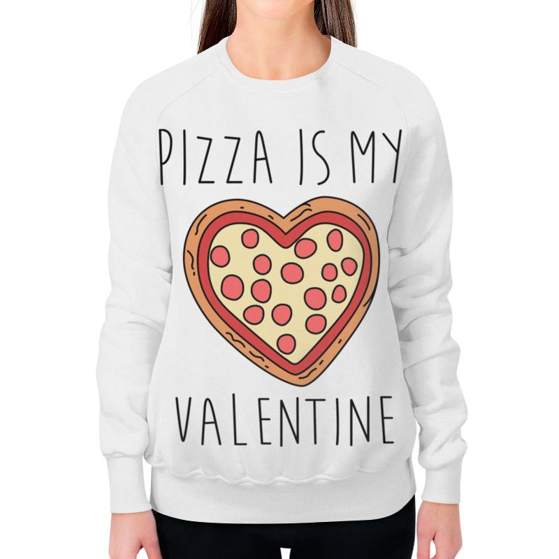 Printio Свитшот женский с полной запечаткой Пицца - мой валентин