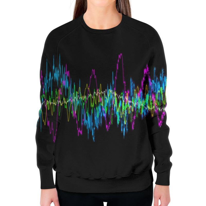 Printio Свитшот женский с полной запечаткой Звуковая волна