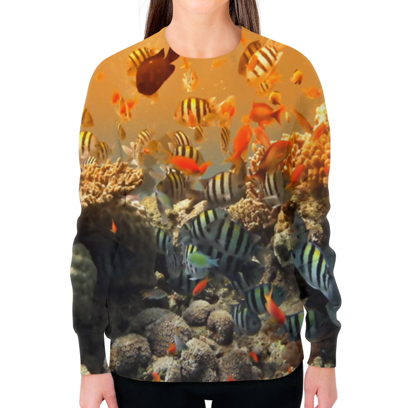 Printio Свитшот женский с полной запечаткой Рыбки