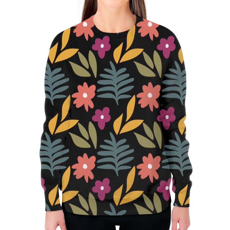 Фото - Printio Свитшот женский с полной запечаткой Листья и цветы printio свитшот женский с полной запечаткой цветы и герб