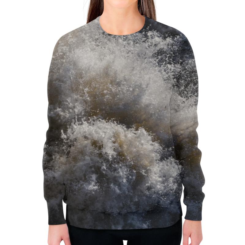 Printio Свитшот женский с полной запечаткой Брызги водопада мёрчисон