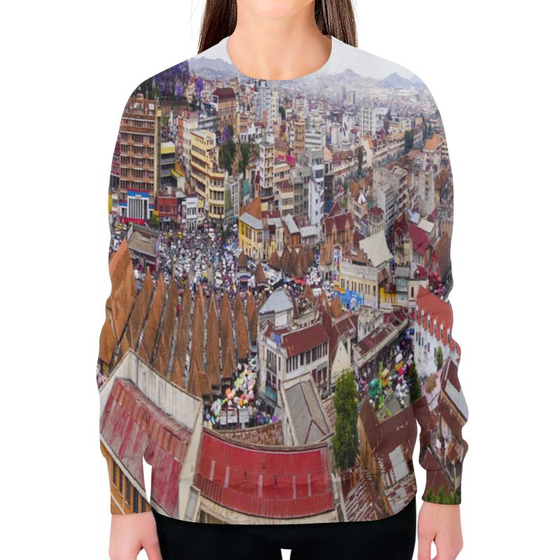 Printio Свитшот женский с полной запечаткой Город антананариву