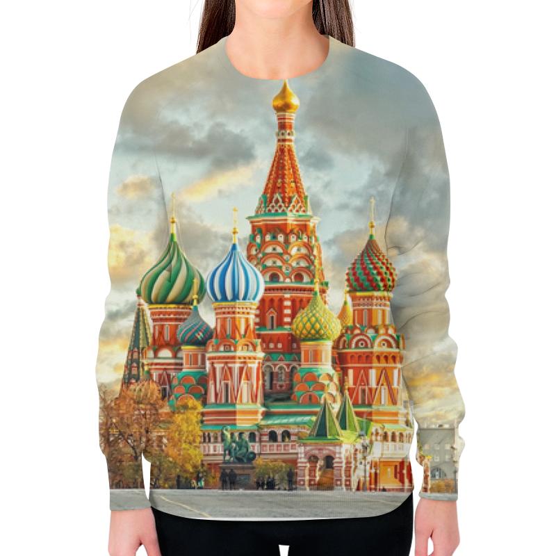 Printio Свитшот женский с полной запечаткой Москва (россия)