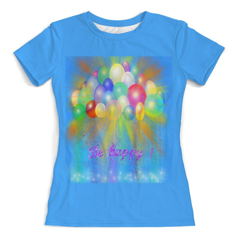 Printio Футболка с полной запечаткой (женская) Разноцветные воздушные шары.