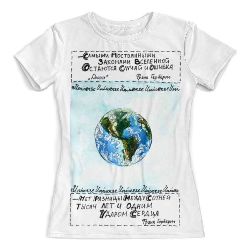 Printio Футболка с полной запечаткой (женская) Наша планета
