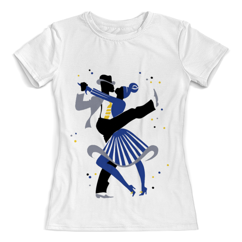 Printio Футболка с полной запечаткой (женская) Танцы. линди-хоп