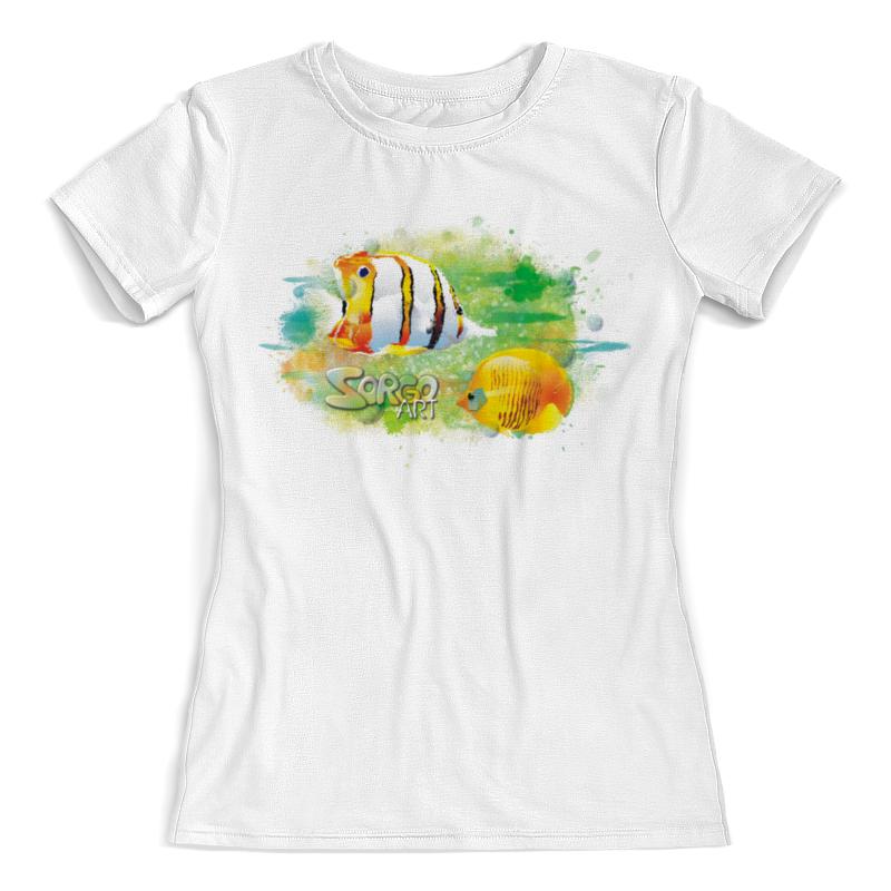 Фото - Printio Футболка с полной запечаткой (женская) С тропическими рыбками от zorgo-art. printio футболка с полной запечаткой женская котик с рыбками