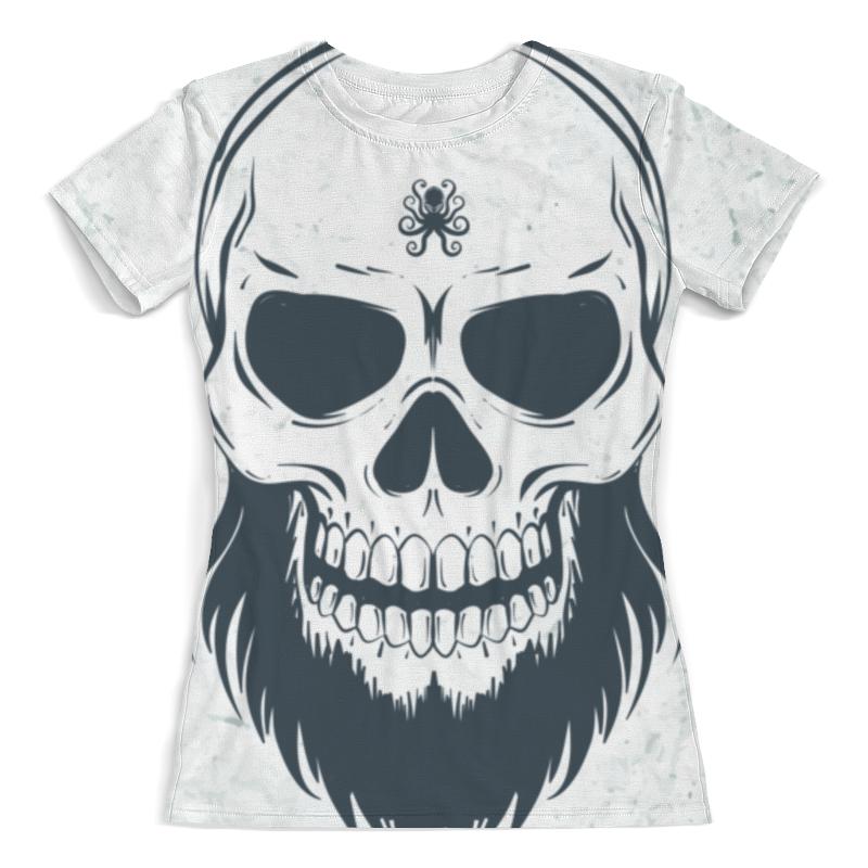 Printio Футболка с полной запечаткой (женская) Череп с бородой футболка с полной запечаткой женская printio череп хищник