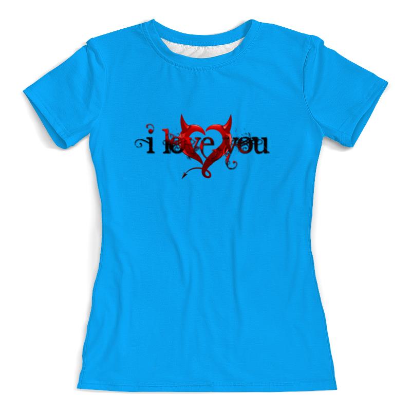 Printio Футболка с полной запечаткой (женская) I love you printio футболка с полной запечаткой женская love love