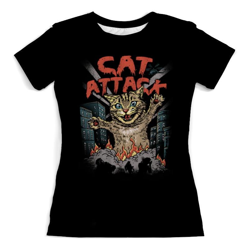 Printio Футболка с полной запечаткой (женская) Cat attack женская футболка 2015 cat 3d t 1983