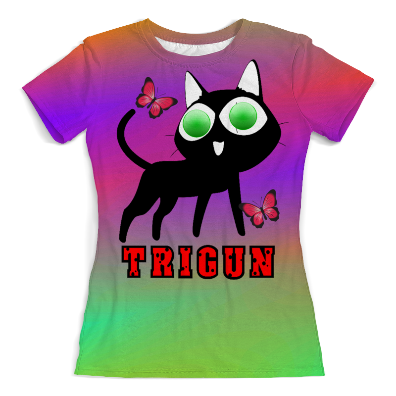 Фото - Printio Футболка с полной запечаткой (женская) Черная кошка printio футболка с полной запечаткой женская девушка кошка