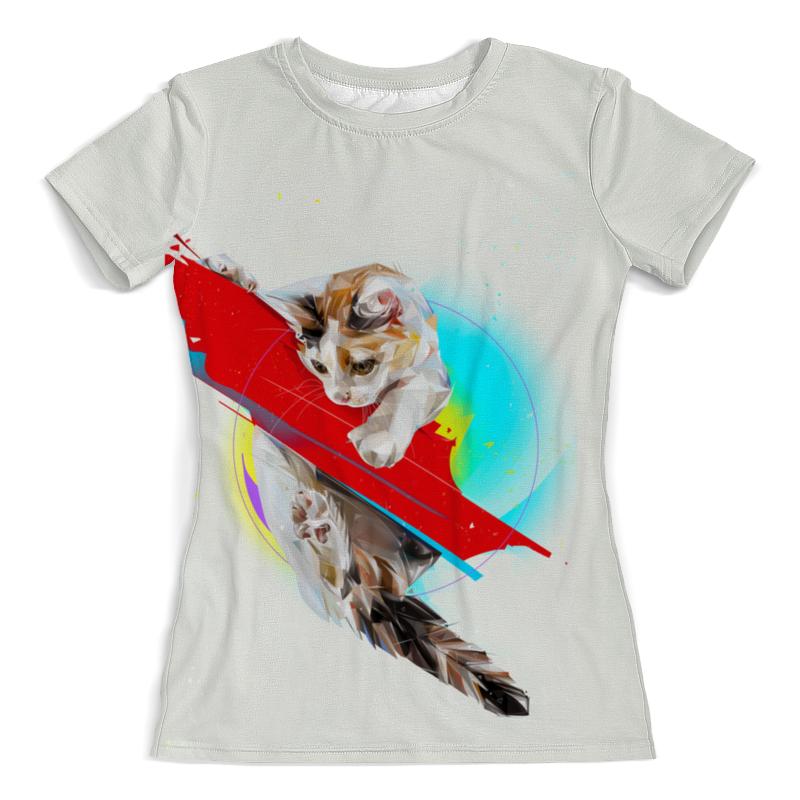 Фото - Printio Футболка с полной запечаткой (женская) Котик printio футболка с полной запечаткой женская котик с рыбками